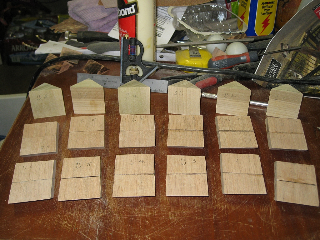 All 18 pieces ready for final glueup