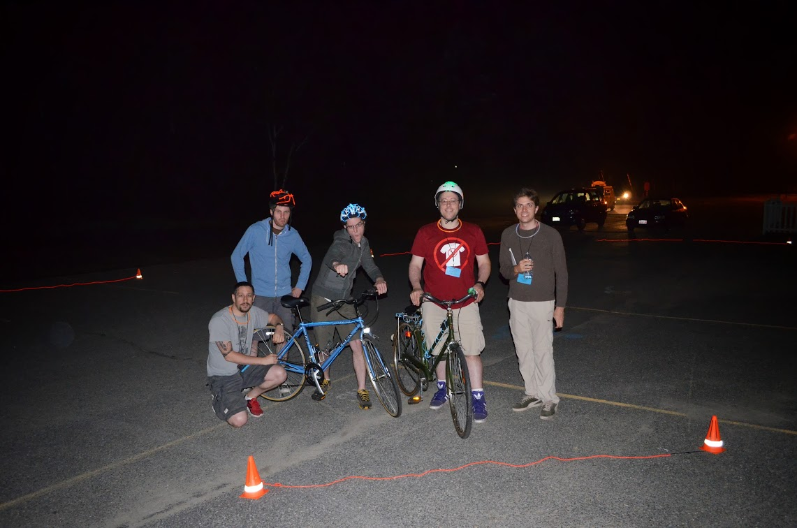 The team having had fun on the light cycles