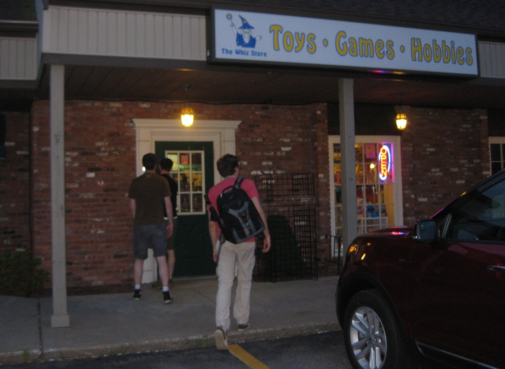 Arriving at the Whiz Gamestore