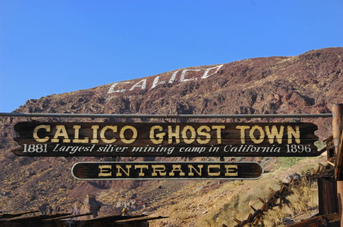 Entrance to Calico Silver mining town