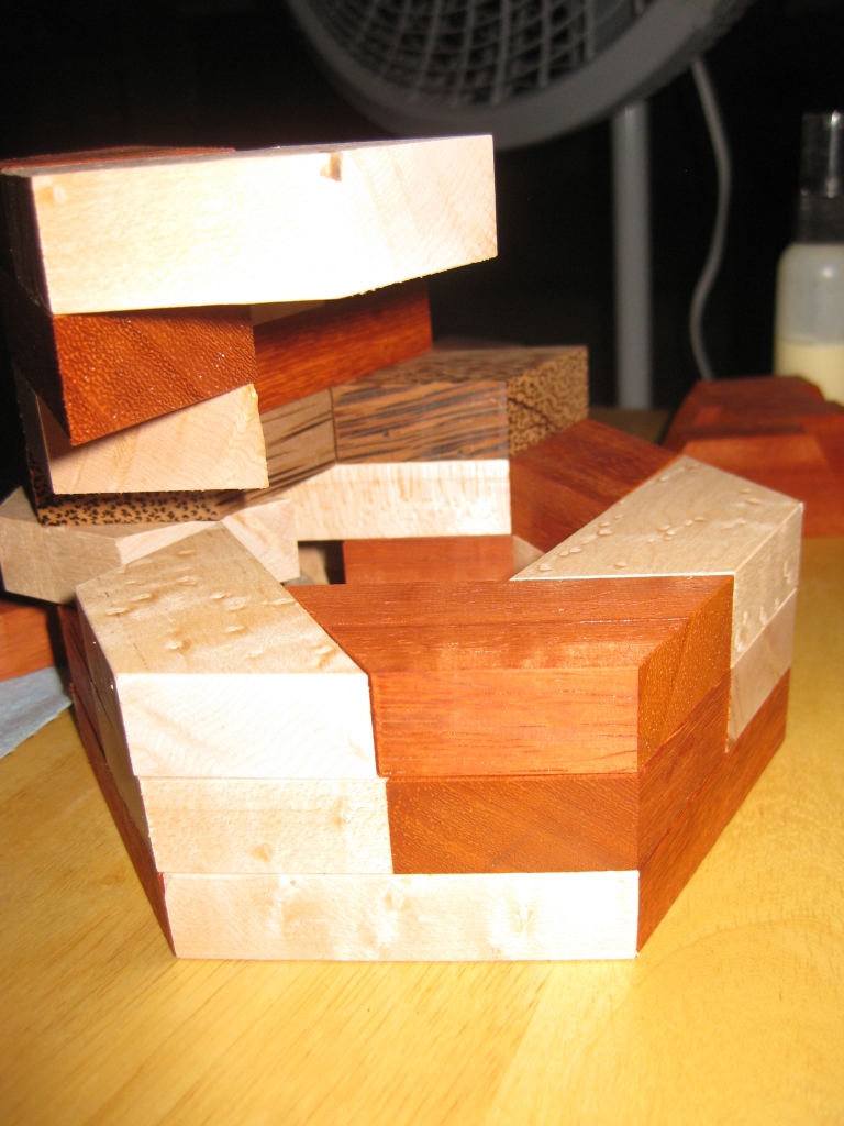 Supporting the pieces while gluing