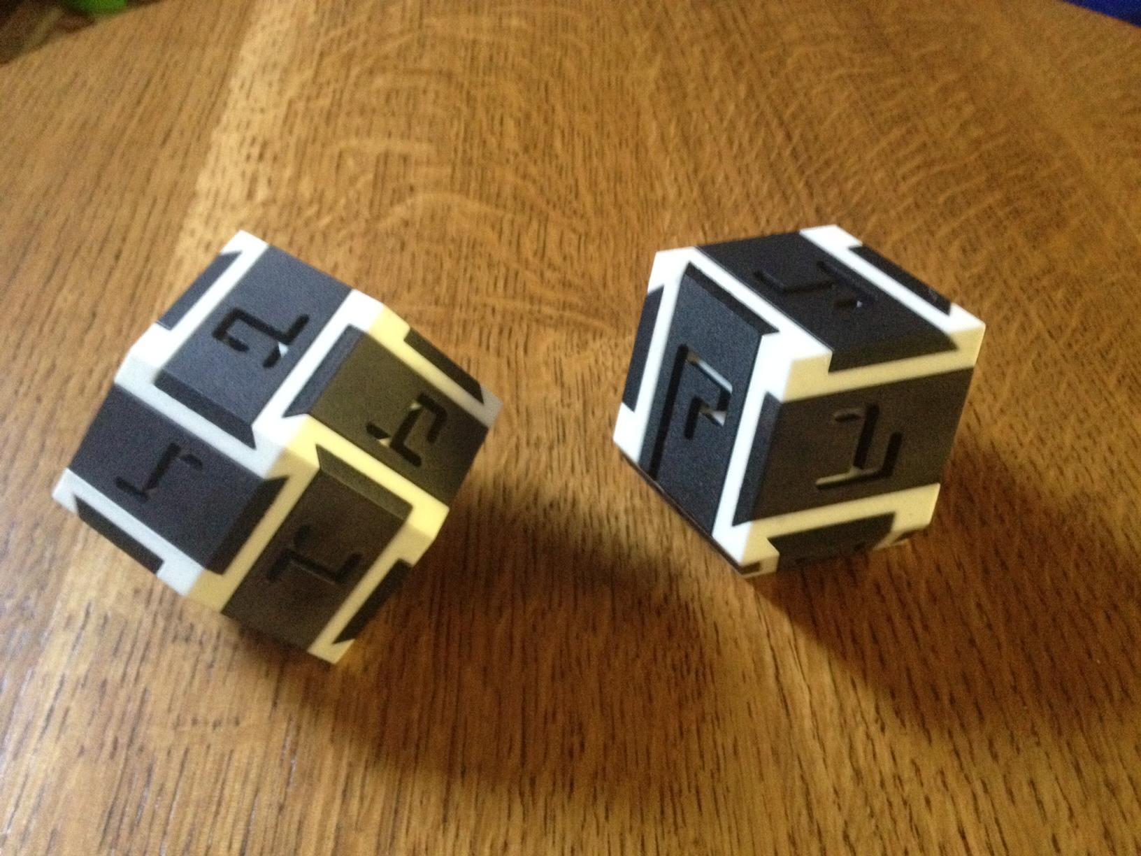 Derek Bosch's Rhombic Maze Burr Puzzles