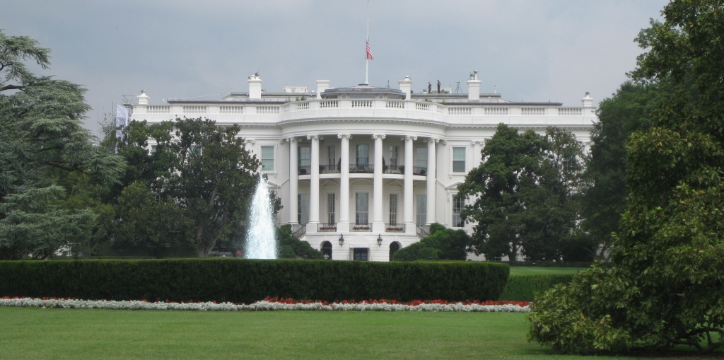 The Whitehouse, complete with snipers on the roof!