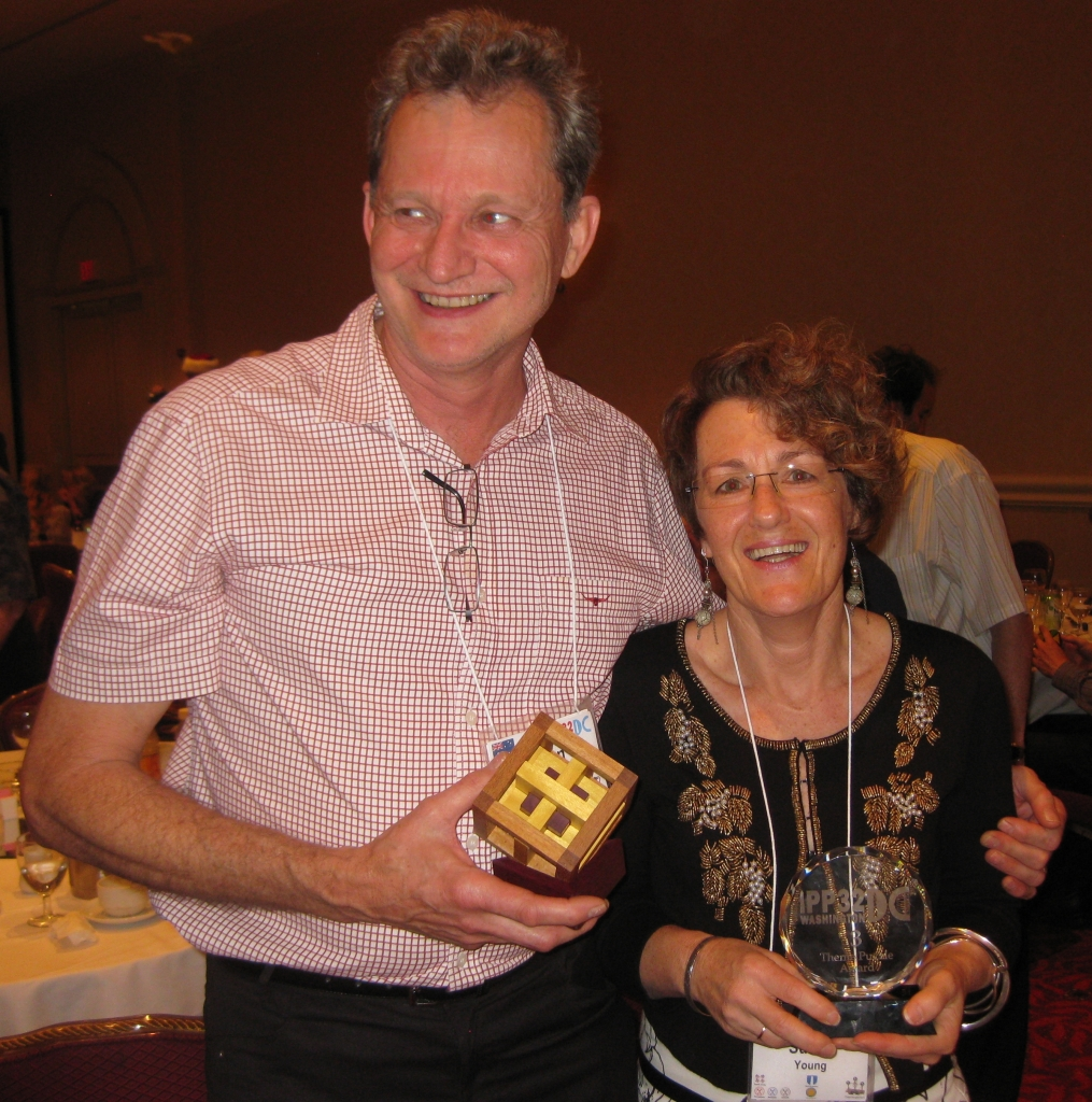 Brian and Sue Young with their Prizes