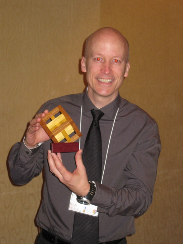 Peter Wiltshire with his prize