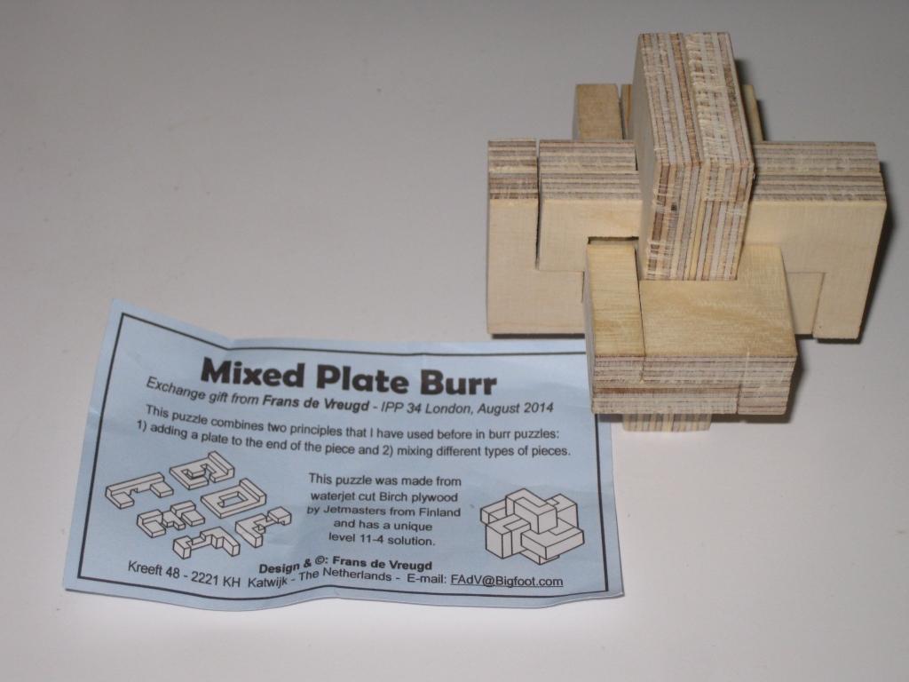 Mixed Plate Burr by Frans de Vreugd