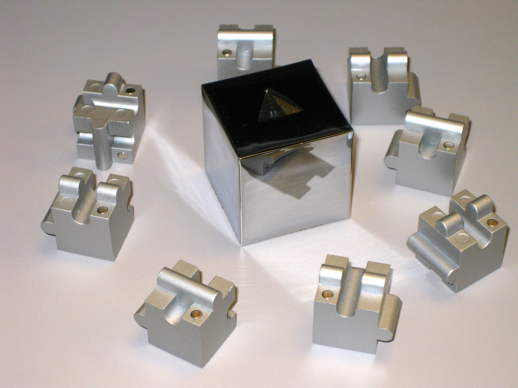 Pieces plus stand for the Jigsaw Cube