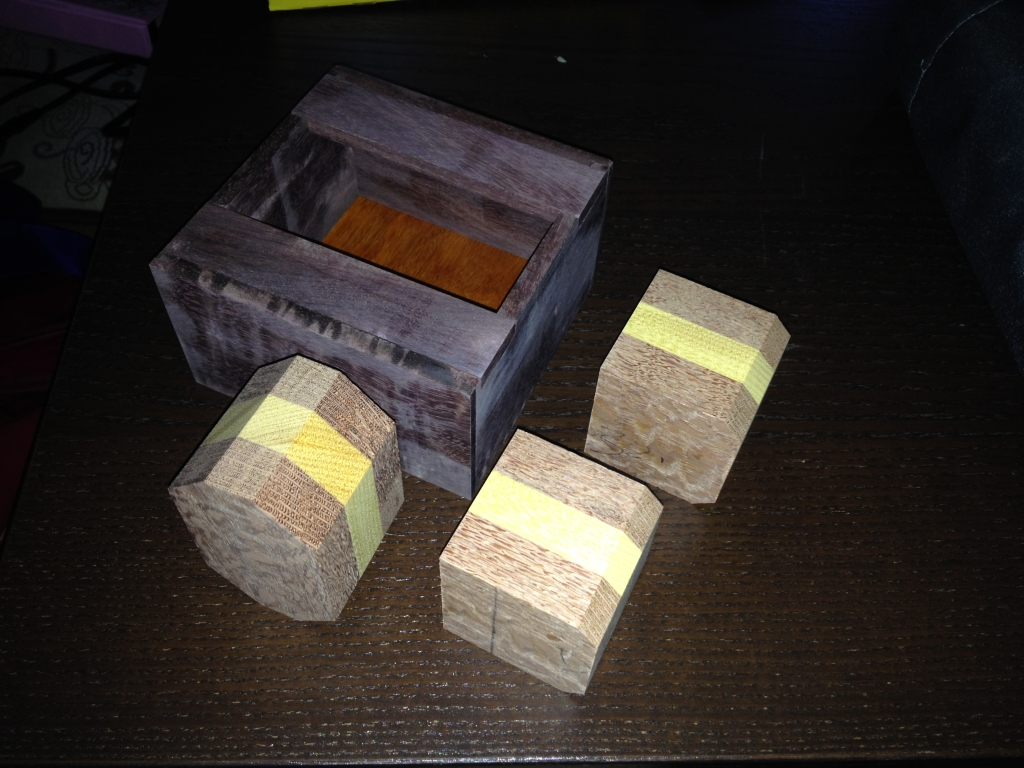 Box glued up, unsanded and still no finish yet