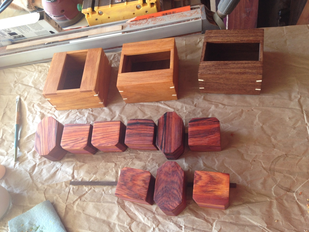 Different wood choices, and slip feathers added
