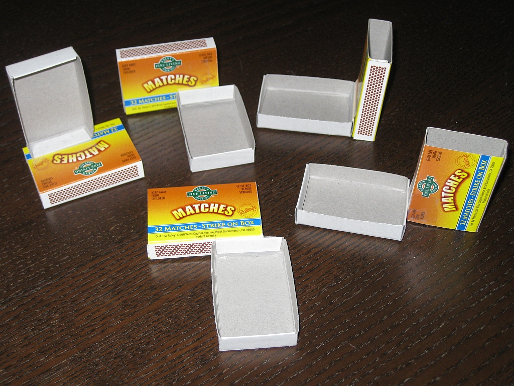 Homemade version of Oskar's Matchboxes