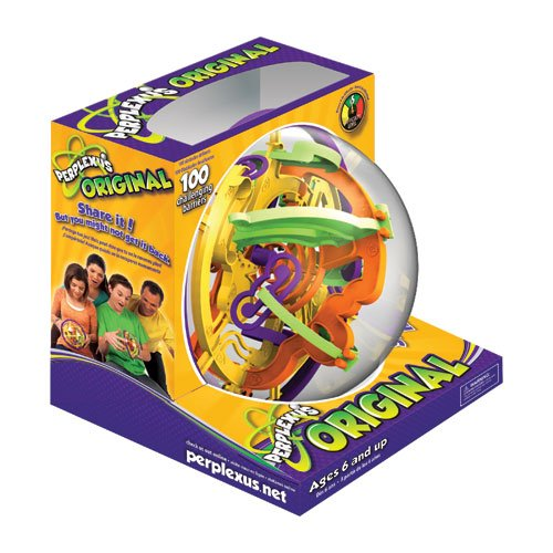 The Perplexus puzzle in the box.