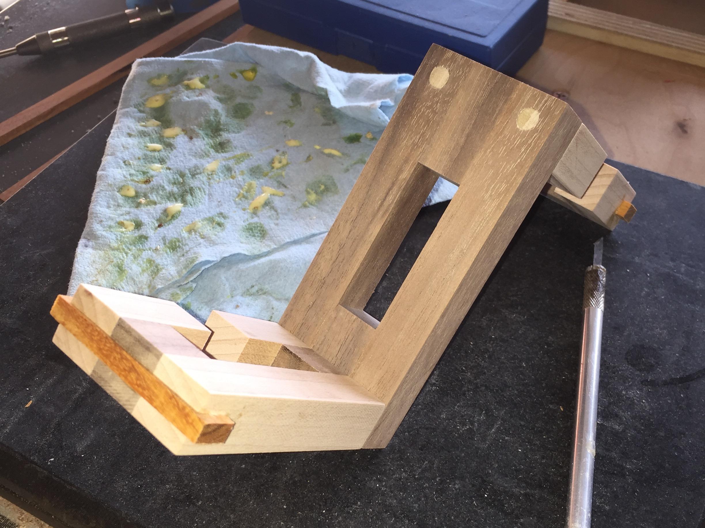 Splines glued in place