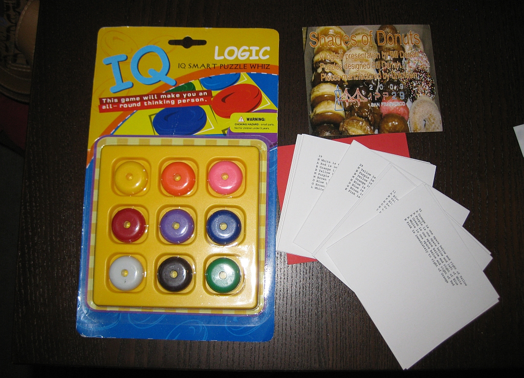 Shades of Donuts Puzzle cards