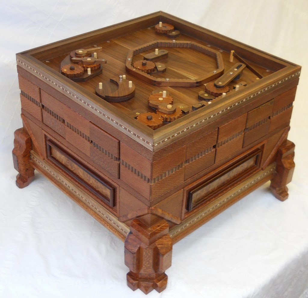Stickman Constellation Puzzlechest with its lid off