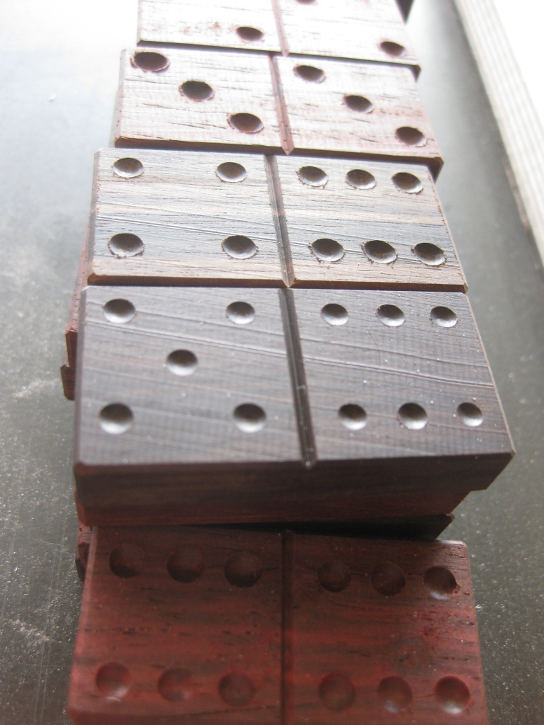 The finished Ebony Dominoes