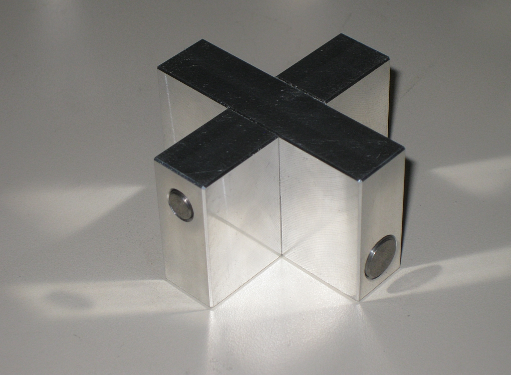 Aluminium Cross by Wil Strijbos
