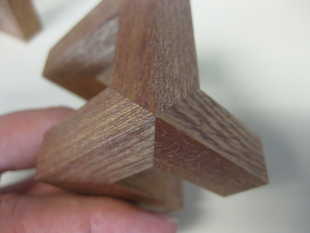 One of the triple mitre joints