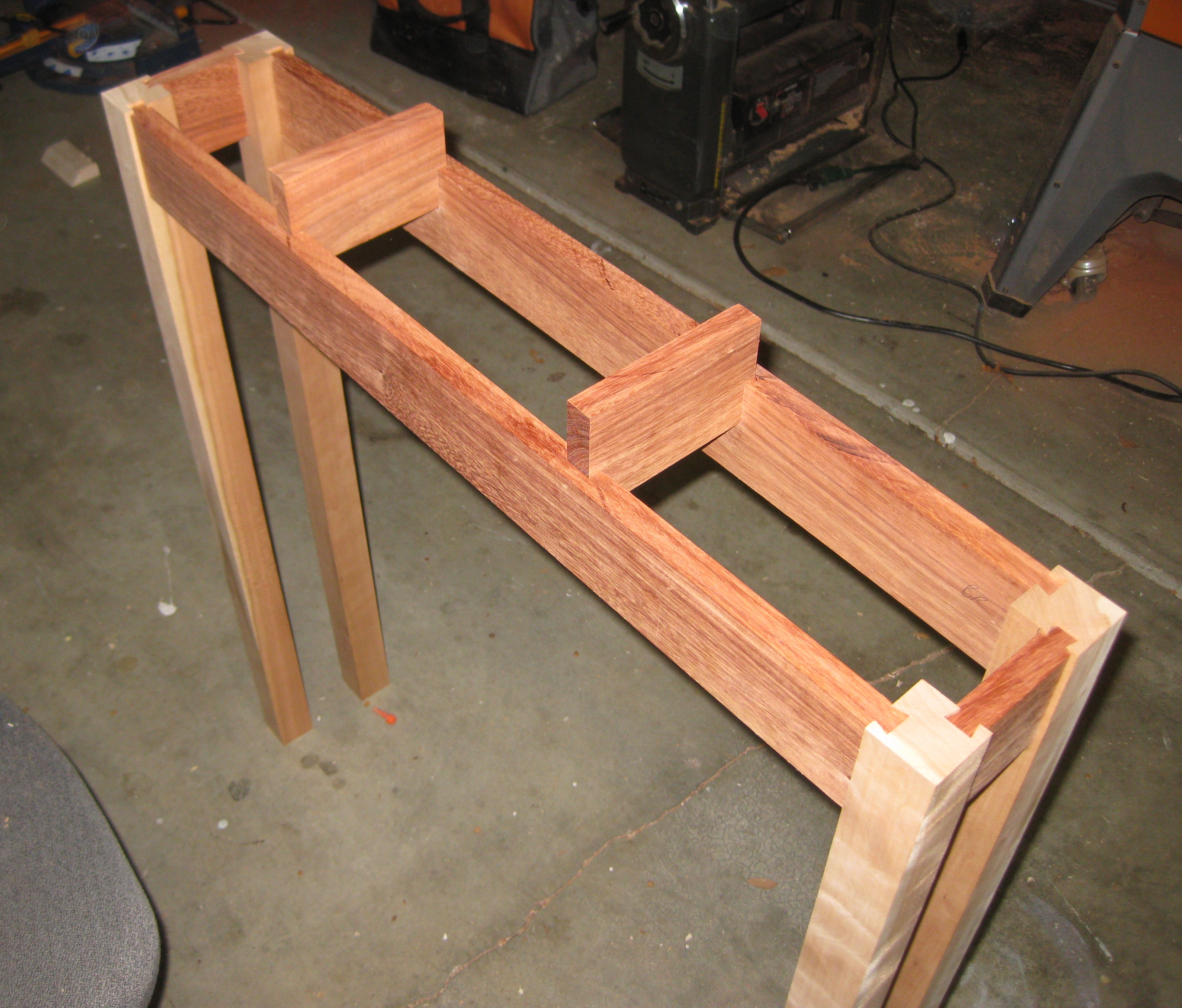 Second dry fit of the frame, with the floats sized and in place.