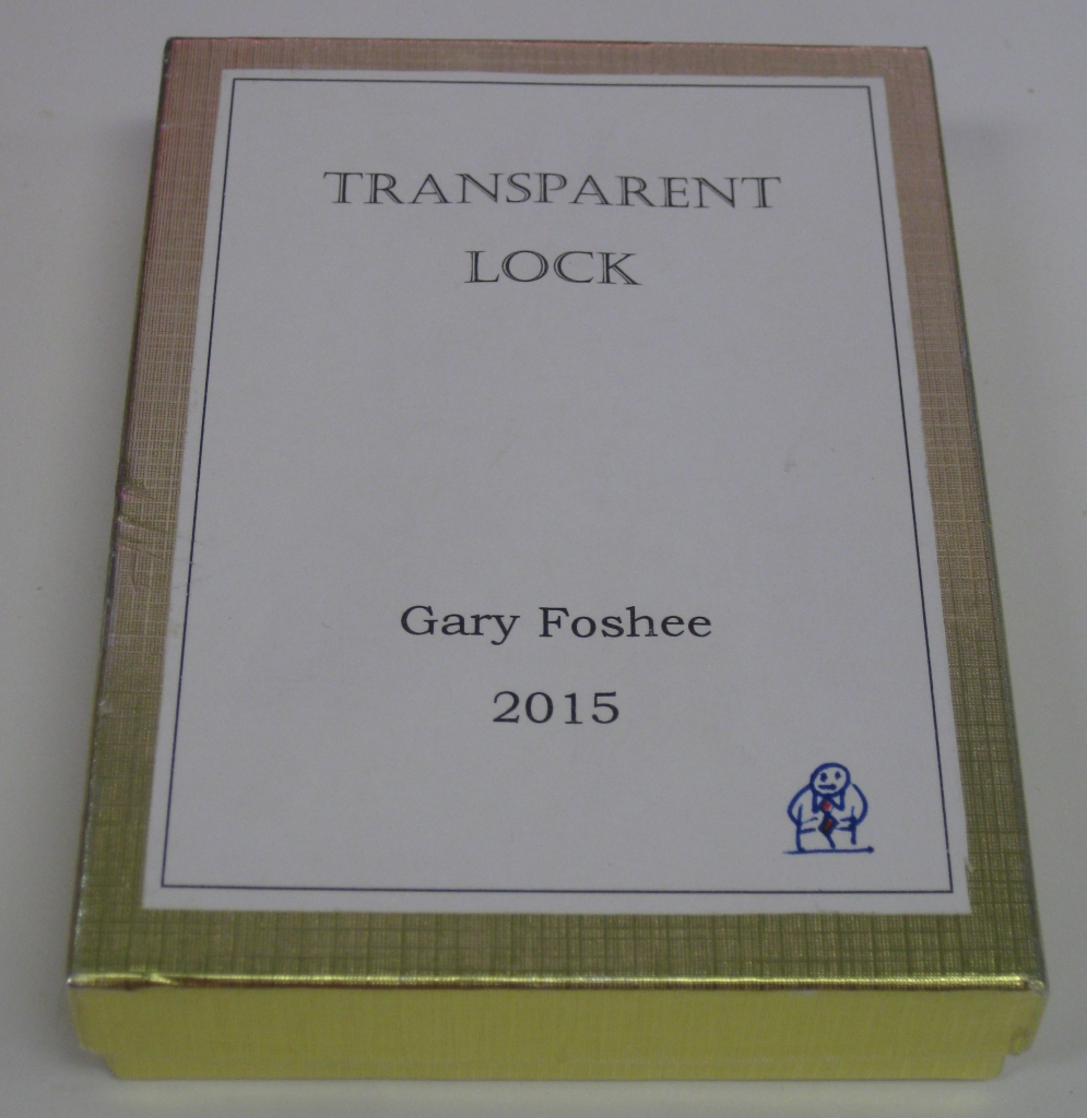Transparent Lock boxed with Gary's Signature