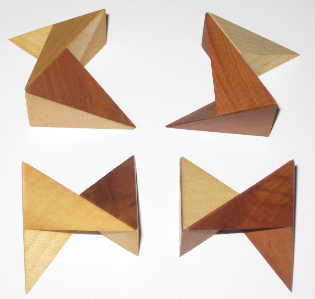 Four simple pieces make up the Octahedron